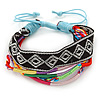 Unisex Handmade Multicoloured Cotton Woven Friendship Bracelet - Adjustable