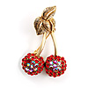 Red Hot Costume Cherry Brooch