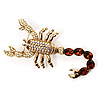 Gold Jumbo Scorpio Brooch