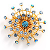 Skyblue Jumbo Star Costume Brooch