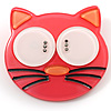 Funky Pink Plastic Cat Brooch