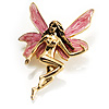 Magical Fairy With Pink Wings Brooch