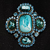 Precious Heirloom Brooch (Sky Blue)