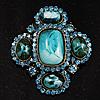 Precious Heirloom Brooch (Sky Blue)