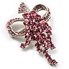 Pink Crystal Grapes Brooch