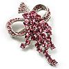 Pink Crystal Grapes Brooch