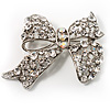 Classic Crystal Bow Brooch