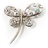 Stylish Crystal Butterfly Brooch