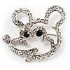 Cute Crystal Mouse Fashion Brooch