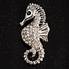 Crystal Seahorse Fashion Brooch