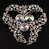 Vintage Class Aurora Borealis Crystal Brooch