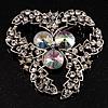 Vintage Class Aurora Borealis Crystal Brooch