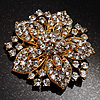 Victorian Corsage Flower Brooch (Clear)