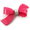 Plastic Bow Brooch (Deep Pink & Pale Green)