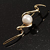Gold Tone Fancy Imitation Pearl Brooch