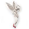 Swarovski Crystal Fairy Brooch (Silver Tone)