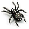 Vintage Sparkling Spider Brooch