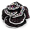 Romantic Vintage Dimensional Crystal Rose Brooch (Black&Purple)
