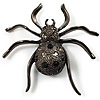 Black Sparkling Spider Brooch