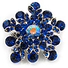 Swarovski Crystal Star Brooch (Navy Blue)