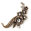 Oversized Antique Gold Grandma's Treasure Brooch - 11cm Length