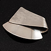 Hammered Stainless Steel Tribal 'Sail' Brooch - (handmade)