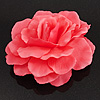 Oversized Pink Fabric Rose Brooch - 18cm Diameter