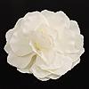 Oversized White Fabric Rose Brooch - 18cm Diameter