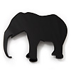 Black Acrylic Elephant Brooch