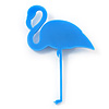 Elegant Bright Blue Acrylic Flamingo Brooch