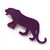 Purple Acrylic Tiger Brooch