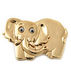 Gold Plated 'Elephant' Brooch