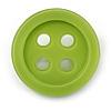 Funky Light Green Acrylic 'Button' Brooch - 35mm Diameter
