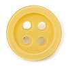 Funky Yellow Acrylic 'Button' Brooch - 35mm Diameter