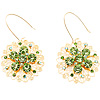 Jumbo Lightgreen Floral Earrings