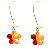 Amber Daisy Drop Earrings