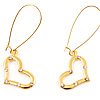 Large Hook Open Heart Earrings