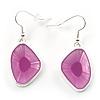 Pink Glass Drop Earrings