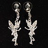 Crystal Fairy Drop Earrings (Silver Tone)