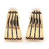 Gold Plated Triangular Clip-On Earrings - 2cm Length