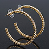 Clear Crystal Hoop Earrings In Gold Plating - 5cm Diameter