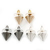 3 Pairs Gold, Silver And Black Stud Earring Set - 10mm Diameter