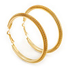 Large Mesh Hoop Earrings In Gold Plating - 65mm Diameter