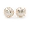 Cream Faux Pearl Clip On Earrings In Gold Tone - 10mm