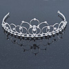 Princess Bridal/ Wedding/ Prom Rhodium Plated Austrian Crystal Tiara