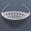 Bridal/ Wedding/ Prom Rhodium Plated Clear Austrian Crystal Starlet Tiara