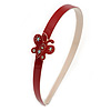 Red/ White Acrylic Alice/ Hair Band/ HeadBand with Crystal Butterfly