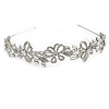 Statement Bridal/ Wedding/ Prom Rhodium Plated Clear Austrian Crystal  Butterfly Tiara