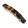 Medium Tortoise Shell Effect Acrylic Barrette Hair Clip Grip - 85mm Across