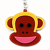 Funky Monkey Brown Plastic Key Ring/ Handbag Charm